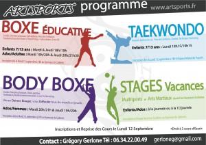Reprise des cours le 12 Septembre… Nouveauté Taekwondo à Puyvert…