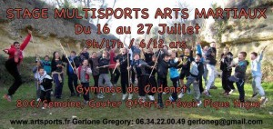 STAGE MULTISPORTS ARTS MARTIAUX ETE 2018
